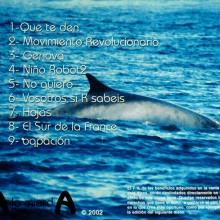 Contraportada 2º CD - Mundo Paralelo