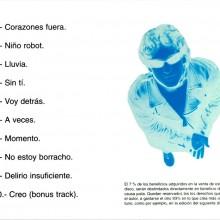 Contraportada 1er CD de Niño Robot