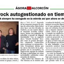 """Entrevista Revista Ágora 2005 """"Rock Autogestionado en Tiempos de Crisis"""""""